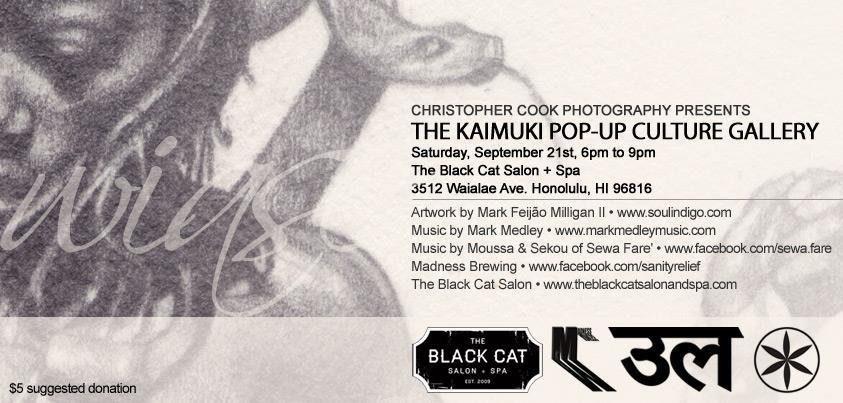 Kaimuki Pop-Up Art Gallery, September 21st 2013