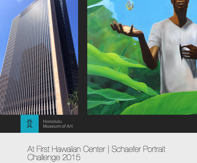 Schaefer Portrait Challenge 2015 exhibit at the First Hawaiian Center
